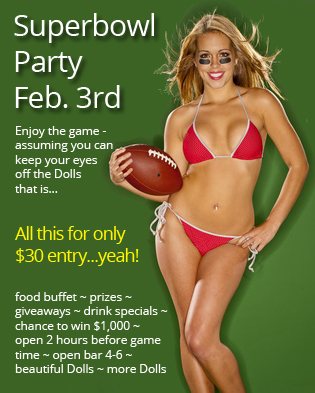 Rhode Island Dolls Superbowl Party